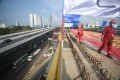 TheJakarta-Bandung high-speed-railway in Java has been delayed as a result of the Covid-19 pandemic. Photo: Xinhua