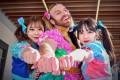 Richard Margarey (centre) as Ladybaby in kawaiicore band Babybeard with bandmates (from left) Suzu and Kotomi. While J-pop fandom can be intense, Ladybaby says he can escape whenever he wants because 'I take off the dress, and I look like other white guys'. Photo: Babybeard