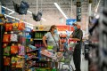 Shoppers at a Walmart store in North Brunswick, New Jersey, US, in July 2020. Photo: Reuters
