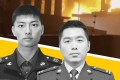 Tang Weijia (left) and Feng Chenmin were killed in a massive fire at a factory near Shanghai. Illustration: Tom Leung