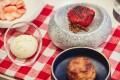Strawberry picnic dessert at Cultivate. Photo: Cultivate