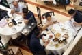 Social-distancing restrictions on restaurants were eased for those following the vaccine bubble rules. Photo: Winson Wong