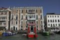An advert for the Biennale Architettura 2021 on Venice's Palazzo San Giustinian in Italy. Photo: John Brunton
