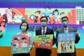 (From left) Secretary for Food and Health Sophia Chan, Secretary for the Civil Service Patrick Nip and Secretary for Education Kevin Yeung unveil Hong Kong's new vaccination plan for those aged 12 to 15 on Thursday. Photo: Dickson Lee