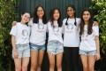 (From left to right) Lauren Ha, Abigail Hali Ng, Felicity Hui, Shloka Bahuguna and Anjali Thakore are among the young volunteers at HandsOn Hong Kong. Photo: Jonathan Wong
