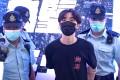 Hong Kong police arrest Wong Yat-chin on Friday. Photo: RTHK