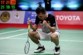 Hong Kong's Angus Ng Ka-long celebrates reaching the 2021 Thailand Open final in Bangkok. Photo: AFP/Badminton Association of Thailand