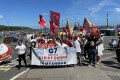 Protesters rally in Falmouth, Cornwall, Britain to call for the end of the military coup in Myanmar, in conjunction with the G7 summit. Photo: DPA