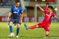 Dejan Damjanovic tries to escape the attentions of Southern's Kota Kawase in the final game of the 2020-21 Hong Kong Premier League regular season. Photo: HKFA