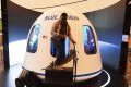 A participant leaves the Blue Origin Space Simulator in Las Vegas, Nevada, US. An unnamed bidder paid US$28 million at auction on Saturday for a seat on board the first crewed spaceflight of Blue Origin on July 20, Photo: AFP