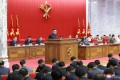 North Korean leader Kim Jong-un speaks during the plenary meeting of the ruling Workers' Party's central committee on Tuesday. Photo: KCNA via Reuters