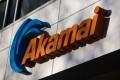 The Akamai logo seen on a building in Cambridge, Massachusetts. Photo: AFP