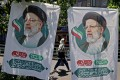 Banners of ultraconservative cleric and presidential candidate Ebrahim Raisi, in Tehran, Iran. Photo: AFP