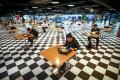 A food court in Bangkok, Thailand, operating at 25 per cent capacity. Photo: EPA