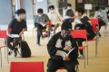 Students revise before taking the DSE English exam at a school in San Po Kong in April. Photo: Winson Wong