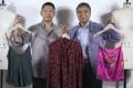 """Bombyx was established in 2018 by Andrew (right) and Hilmond Hui. The organic silk company invests its all in environmentally friendly silkworm farming and a sustainable factory in Sichuan """"where silk began"""" in China. Photo: Jonathan Wong"""