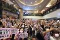 Fans wait to meet members of the Hong Kong boy band Mirror at a mall in Tsim Sha Tsui on July 10. Photo: Felix Wong