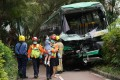 A schoolbus collision with a car in Sha Tin on June 4 left 24 injured. Photo: Felix Wong