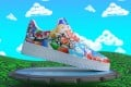 """A virtual sneaker made by the digital fashion company RTFKT. It sells limited edition NFTs representing sneakers which can be """"worn"""" in some virtual worlds or on social media via a filter. Photo: Reuters"""