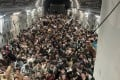 Hundreds of Afghan citizens are evacuated on an US Air Force C-17 Globemaster III airplane after the fall of Kabul. Photo:  DPA