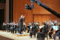 The Hong Kong Sinfonietta under principal guest conductor Christoph Poppen perform during filming of their second concert film under coronavirus lockdown, Back on Stage II (Quarantined!). The film, one of three the orchestra shot, is being screened as part of the Life is Art festival. Photo: HK Sinfonietta Ltd