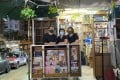 """As part of the """"Via North Point"""" project, artists at Cou Tou Woodworking Studio designed a new display cabinet for a woman surnamed Ng (centre), who has run a news stand in the area for more than two decades, which saves her nearly two hours of labour a day. Photo: Hong Kong Arts Centre"""