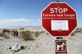 A sign warning of extreme heat danger on August 17, 2020 in Death Valley National Park, California, after the temperature hit 54 degrees Celsius, possibly the hottest recorded on Earth since at least 1913. Photo: AFP