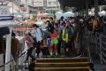 Hongkongers queue up at Sai Kung pier on the Labour Day holiday on May 1. Photo: May Tse