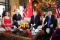 Donald Trump welcomes Xi Jinping to Mar-a-Lago in Florida in 2017. Photo: Reuters