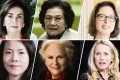 Some of the richest women, clockwise from top left: Iris Fontbona, Kwong Siu-hing, Abigail Johnson, Elizabeth Yang Huiyan, Jacqueline Mars and Laurene Powell Jobs. Graphics: Kwok Wang-chow. Photos: Forbes
