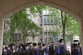 Future graduates waiting for the procession to begin for commencement at Yale University. File photo: AP