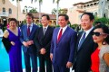 Future Florida governor Ron DeSantis (centre) attended a pro-Israel gala at Mar-a-Lago on February 25, 2018. The event was also attended by Cindy Yang (far left). Photo: Facebook/Miami Herald/TNS