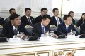 Nur Bekri, left front, with vice premier Han Zheng, third from left, in Moscow, Russia, last year. Bekri, the former head of China's energy planning agency, has been expelled from the country's ruling Communist Party and dismissed from his posts, China's disciplinary committee announced on Saturday. Photo: Xinhua