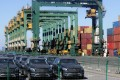 Imported Mercedes-Benz cars at Tianjin Port, in northern China. Photo: Reuters