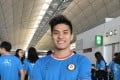 Kenneth To at the Hong Kong International Airport before he left for the 2017 World University Games in Taipei. Photo: Chan Kin-wa