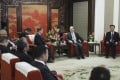 Chinese Vice-President Wang Qishan meets members of a Philippine government delegation that includes Foreign Secretary Teodoro Locsin, Executive Secretary Salvador Medialdea and Finance Secretary Carlos Dominguez in Beijing. Photo: Xinhua