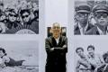 Pulitzer-winning photojournalist Liu Heung Shing at his solo exhibition in HKU. Photo: Nora Tam