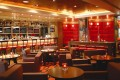 The cosy interior of The Steak House winebar + grill at the InterContinental Hong Kong.