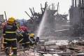 Firefighters work on the rubble of a pesticide plant owned by Jiangsu Tianjiayi Chemical following an explosion in Xiangshui county, Yancheng, Jiangsu province, last week. Photo: Reuters