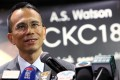 Victor Li Tzar-Kuoi, chairman of CK Hutchison Holdings, which owns AS Watson. Photo: Edmond So