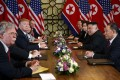 The Hanoi summit between US President Donald Trump and North Korean leader Kim Jong-un in February ended without a deal or agreement. Photo: AP