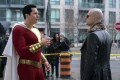 Zachary Levi (left) and Mark Strong in a still from Shazam! (category TBC), directed by David F. Sandberg.