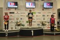 Catherine Kwan Siu-yin stands on the podium in third, alongside French and Canadian competitors. Photos: Handout