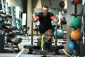 Chef Arron Rhodes trains at Topfit in Sheung Wan. He is competing in a world championship strongman competition in Australia in June. Photo: Roy Issa