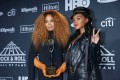 Inductee Janet Jackson (left) and singer Janelle Monae at the Rock and Roll Hall of Fame induction ceremony in Brooklyn on March 29, 2019. Photo: Reuters