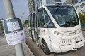 The self-driving bus has been operating in West Kowloon for several months. Photo: David Wong