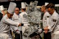The Malaysian team competes during the Pastry World Cup in Lyon. Photo: Jean-Philippe Ksiazek/AFP