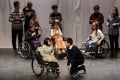 """Rare disease sufferers who performed in the drama """"Rare Hug"""" in Beijing in February to raise awareness of the plight of the estimated 20 million people in China with rare diseases. Photo: Simon Song"""