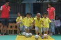 Xi Jinping's hopes for China as a world footballing force begin with children such as pupils at the Central Kindergarten in Changxing county, eastern Zhejiang province. Photo: Xinhua