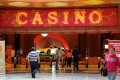 The entrance to the Resorts World Sentosa casino in Singapore. Photo: AFP